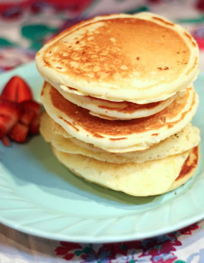 Classic Fluffy Pancakes are easy to make from scratch and can be frozen as a quick make ahead breakfast. pancakes   fluffy pancakes recipe   from scratch pancakes