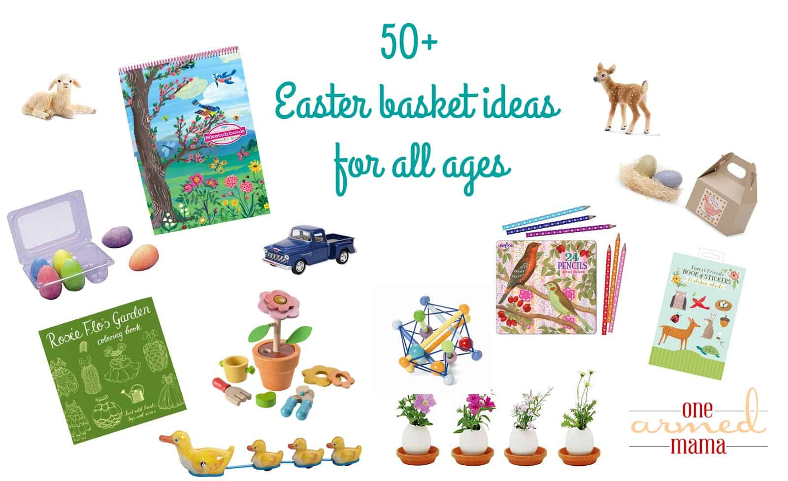 Basket ideas for the easter bunny one armed mama easter is one of my very favorite holidays because of our family traditions that we have created i am big on traditions so i have come up with a few things negle Choice Image