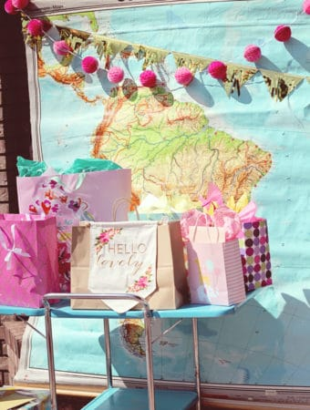 vintage map party decor