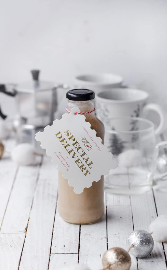 Homemade Baileys Irish Cream Liqueur is delicious and velvety over ice or add some to your coffee to festive it up a bit. baileys irish cream liqueur recipe | irish cream coffee drinks | irish cream ingredients