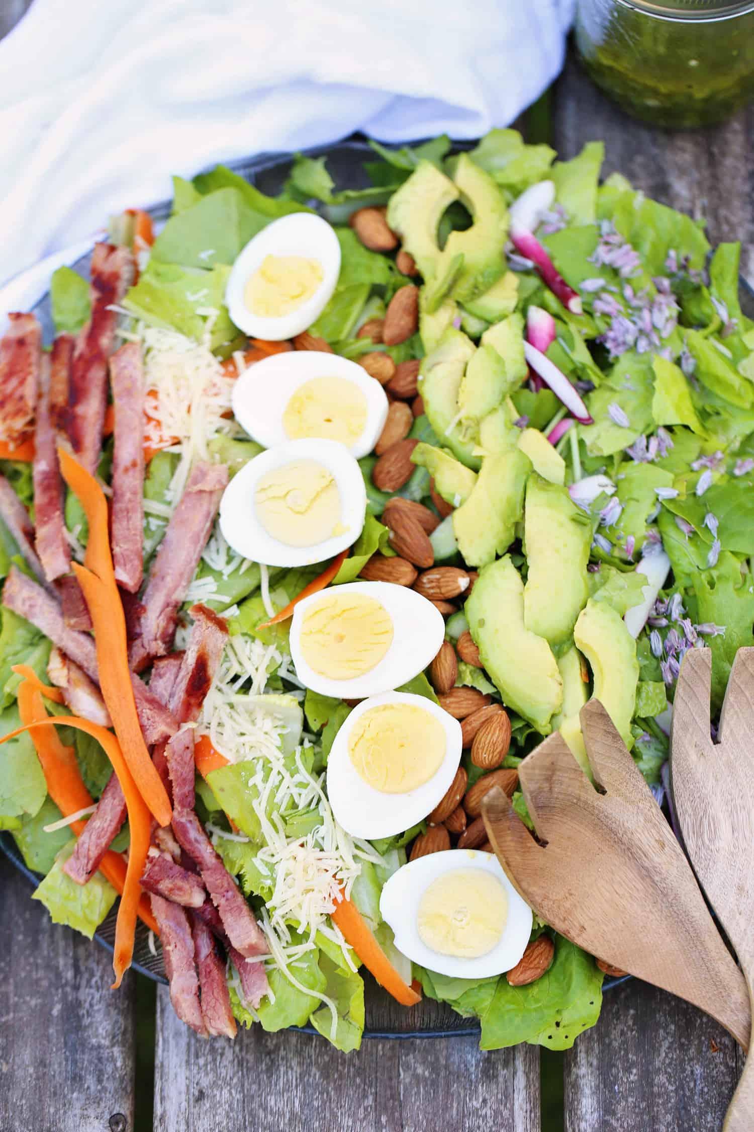 Chef Garden: CHEF'S GARDEN SALAD WITH HERB CIDER VINAIGRETTE · ONE
