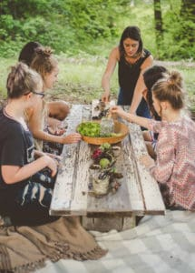 Inspired by the beauty of gathering round a table Tristin Rieken shares ideas for living a Fresh, Flavorful Life!