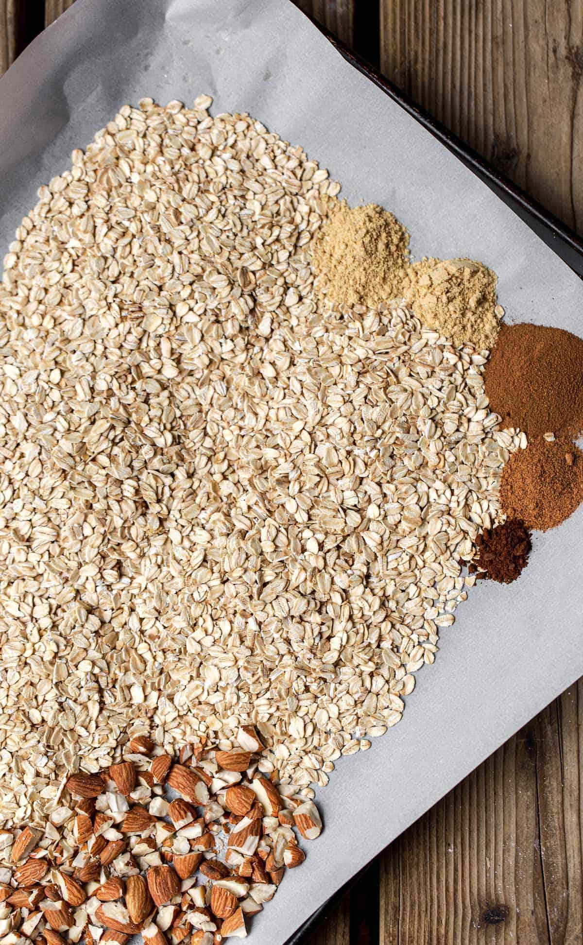 homemade granola bar ingredients