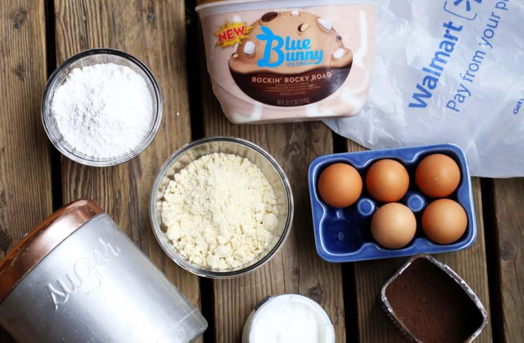 Rocky road macaron ice cream sandwich ingredients