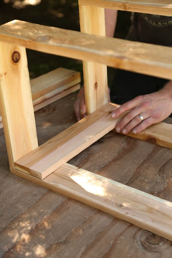 How to Build a Wine Rack Cooler Seat   ONE armed MAMA.com