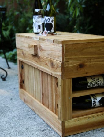How to Build a Wine Rack Cooler Seat | ONE armed MAMA.com