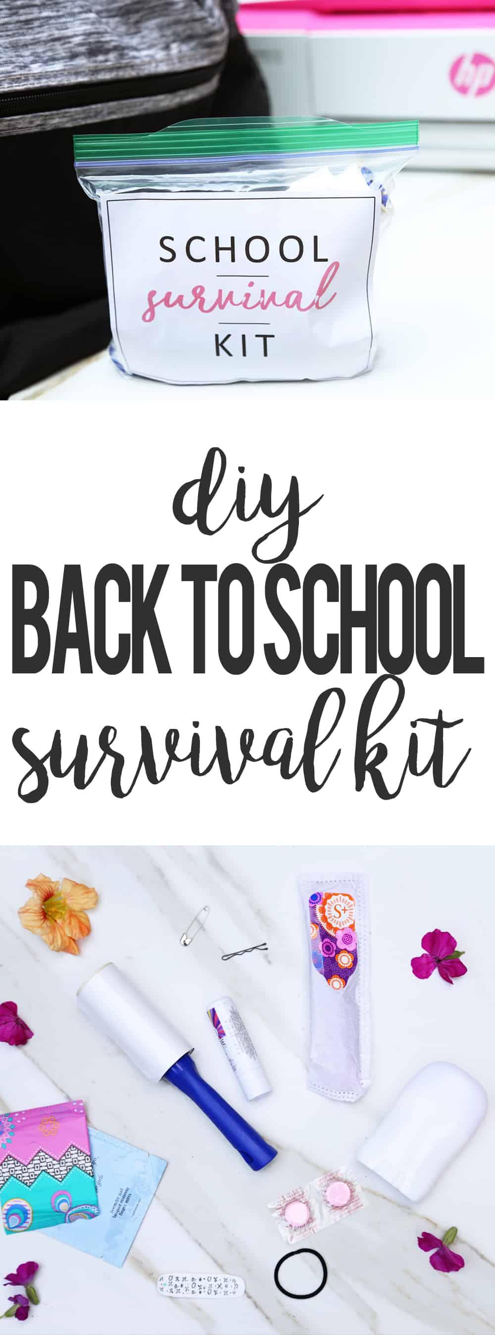 DIY SCHOOL SURVIVAL KIT | ONEARMEDMAMA.COM #CreateWithHP #ad
