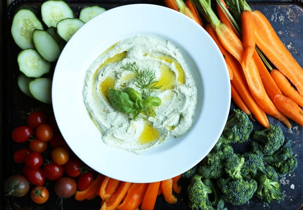 Whipped Feta Herb Dip recipe ONEarmedMAMA.com #ad #collectivebias #TrySomeTHINGood