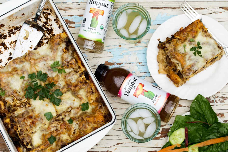 #ad #RefreshinglyHonestSnacks #CollectiveBias Vegetable Sausage Garden Fresh Lasagna