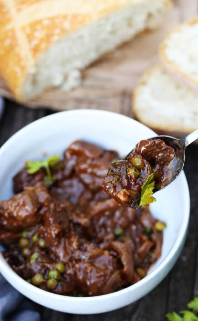 braised beef and mushrooms