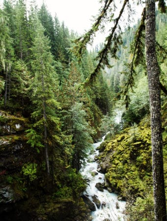 Nooksack Falls in the North Cascades National Park is an easy outdoor adventure in Glacier, WA that's a perfect day trip for all ages and abilities. Especially with these five tips for outdoor family adventures! North Cascades National Park | Nooksack Falls | Mount Baker