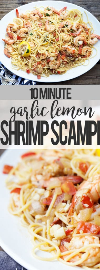 Gluten Free easy and quick Weeknight Dinner Shrimp Scampi #PastaPerfection #CollectiveBias #ad