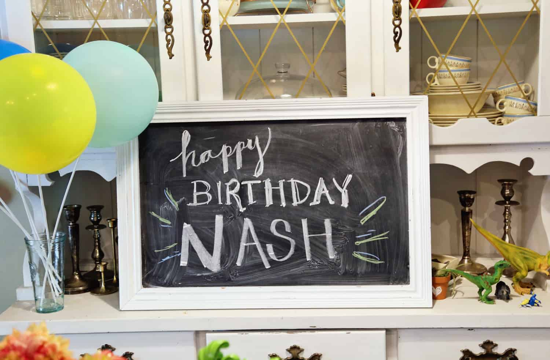 Chalboard Art Happy Birthday Nash