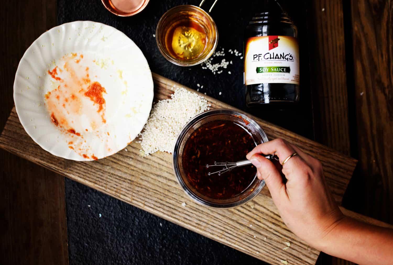 mix up homemade teriyaki style sesame soy sauce #AuthenticMadeEasy #CollectiveBias