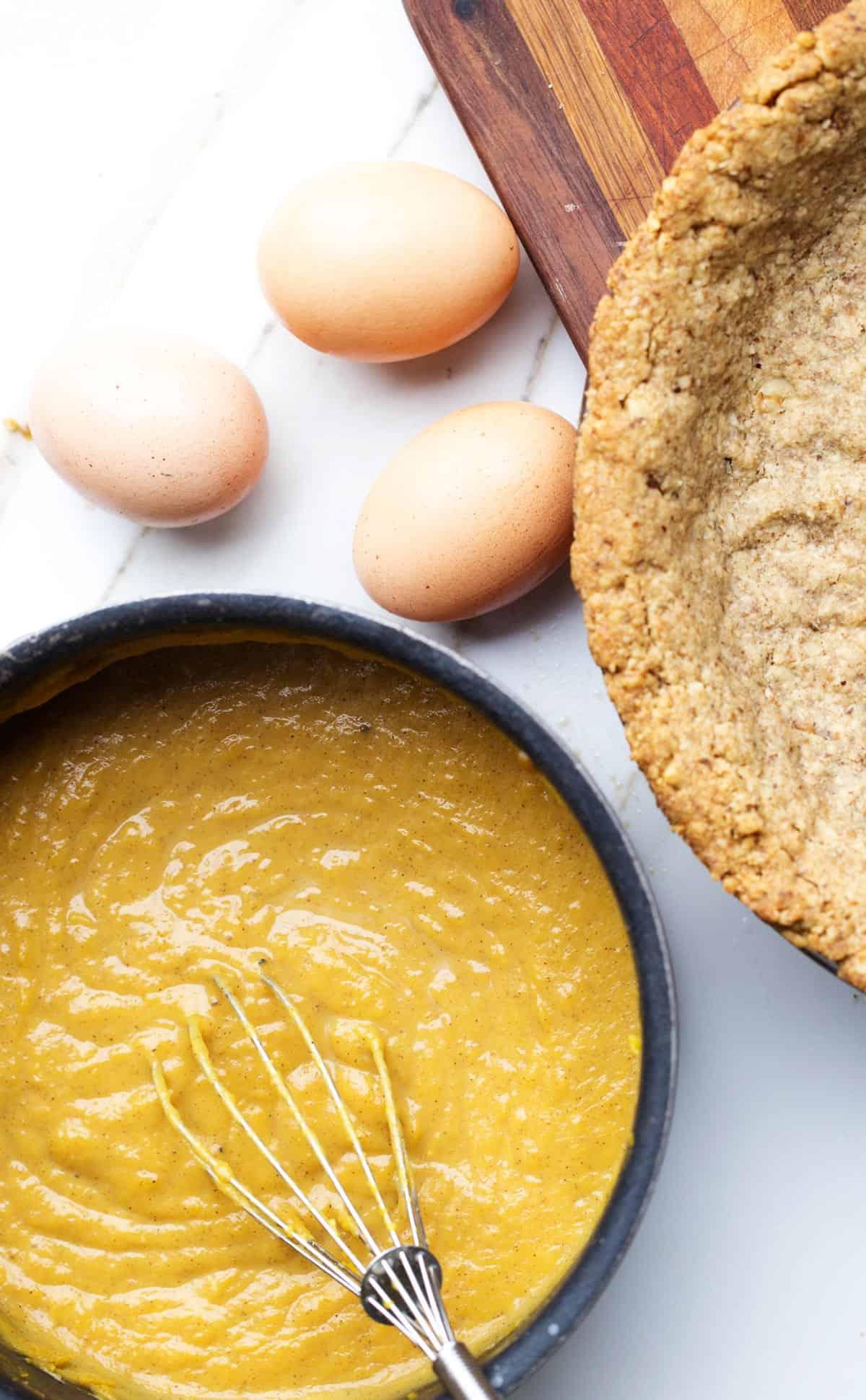 Fresh Pumpkin Walnut Pie ingredients