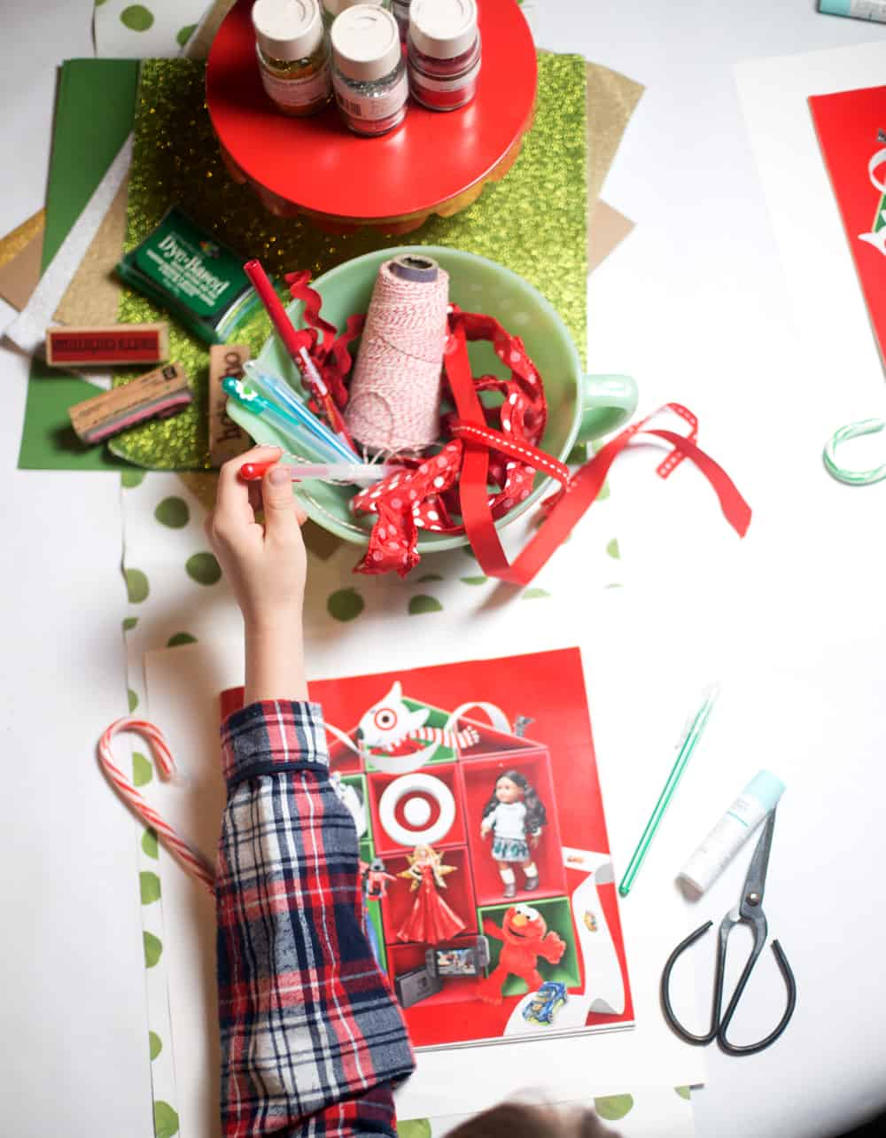 wish list party make | memorable family holiday | Christmas traditions | list crafting party | kids Christmas crafts | tradition craft gift ideas lists #SamsungTargetTech #CollectiveBias  #ad