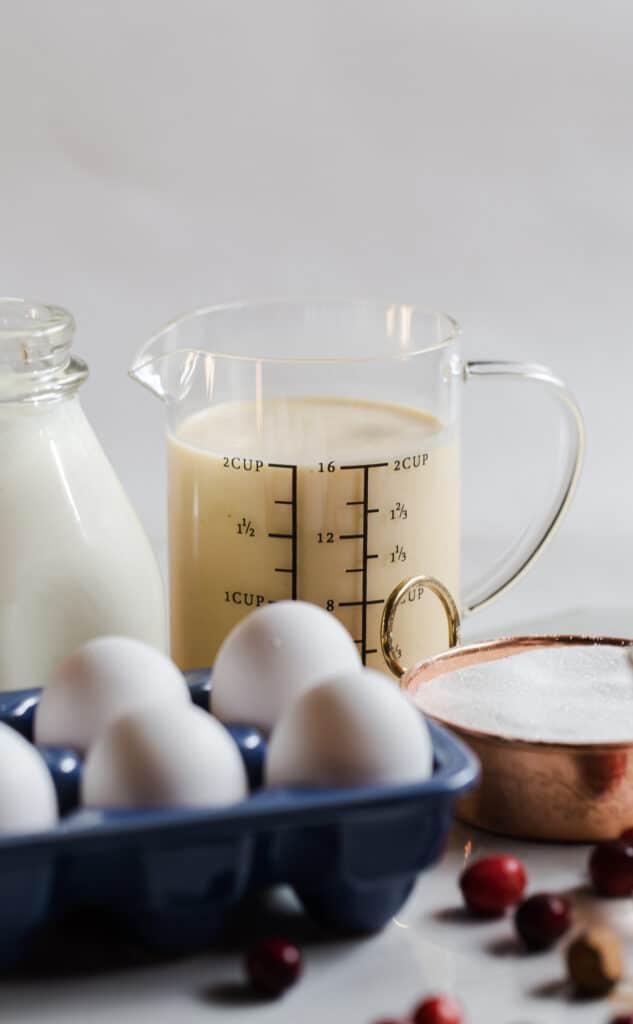 Eggnog Crème Brûlée ingredients