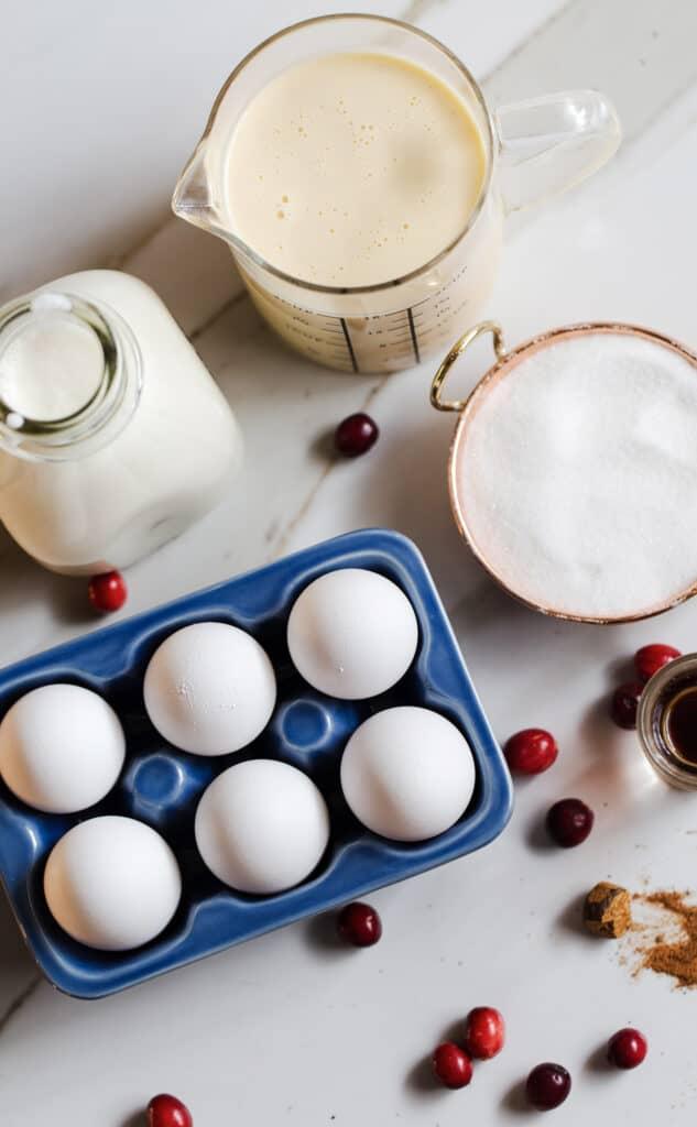Eggnog Creme Brulee ingredients