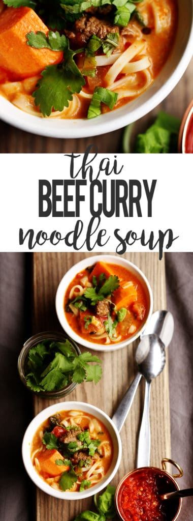 Thai Beef Curry Noodle Soup | Gluten Free Soup | Beef Noodle Soup | Beef Vegetable Curry | Curry Soup