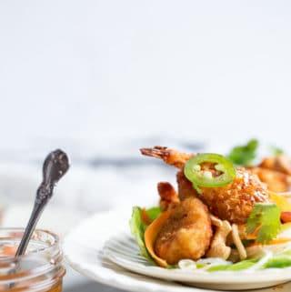Asian Shrimp Lettuce Wraps recipe | diy buffet dinner spread | self serve family meal idea | quick weeknight meal #sponsored @CloduBois @SeaPakShrimpCo