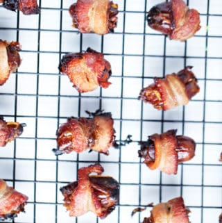 Bacon Wrapped Dates | 2 ingredient appetizer | Date Night at Home Snack