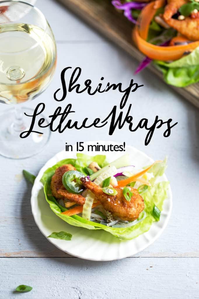 Asian Shrimp Lettuce Wraps recipe   diy buffet dinner spread   self serve family meal idea   quick weeknight meal #sponsored @CloduBois @SeaPakShrimpCo