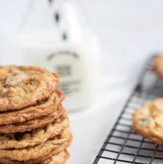 Peanut Butter Oatmeal Trail Mix Cookies | how to make best ever trail mix cookie recipe | kids cookies | cookies with peanut butter and oatmeal