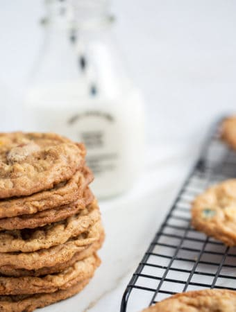 Peanut Butter Oatmeal Trail Mix Cookies   how to make best ever trail mix cookie recipe   kids cookies   cookies with peanut butter and oatmeal