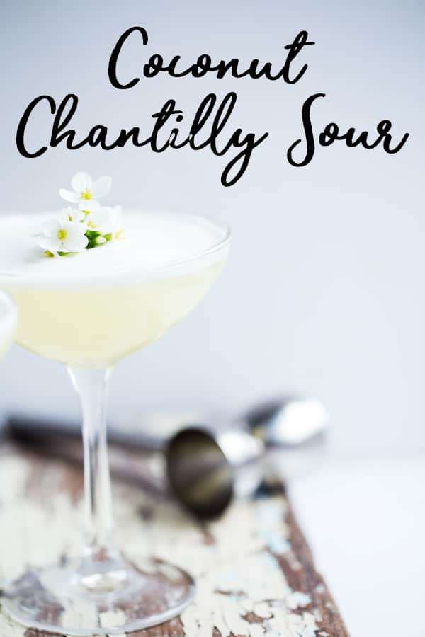 Bright citrusy lemon and creamy coconut with a cappuccino-like foam the Coconut Chantilly Sour is like a fresh slice of lemon meringue pie in a glass!