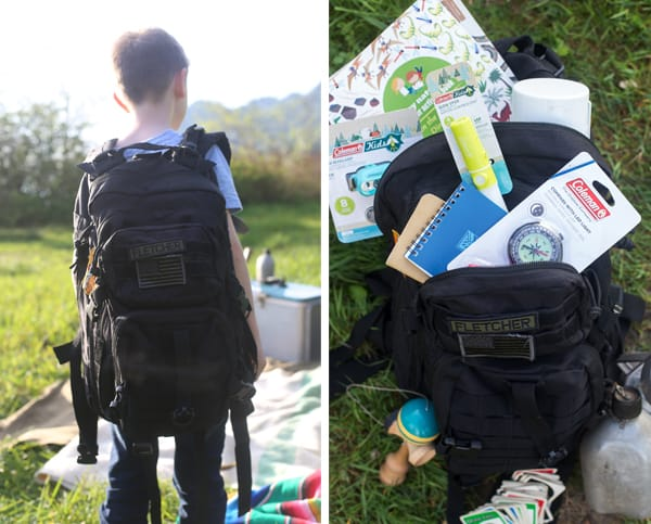 kids camp kit backpack