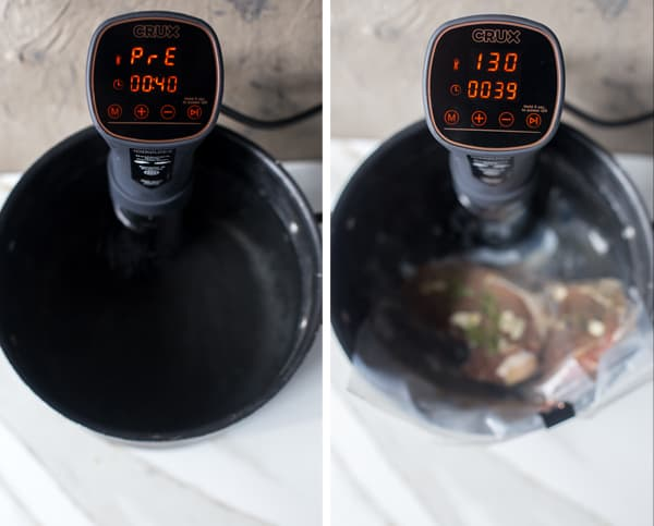 The cooking method popular with professional chefs is now easier than ever to do yourself at home. With this step-by-step sous-vide guide you'll be vacuum sealing and sous-viding the most mouthwatering steak, chicken, fish or vegetables perfectly, every time. sous vide steak | sous vide for beginners #ad #SousVidePerfection