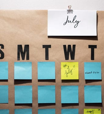 Learn How to DIY a Giant Post-it Wall Calendar in as little as five minutes with this super easy tutorial and free modern script calendar months printable! Large Modern Wall Calendar | Big Giant Large Office Modern Wall Calendar | How to DIY Wall Calendar | easy hanging jumbo wall calendar | diy family wall calendar | diy wall calendar ideas | post it family calendar | post it note calendar diy | post it calendar printable | post it note calendar template | free printable calendar months | free printable calendar month labels | #BackToSchoolGoals18 #CollectiveBias #ad