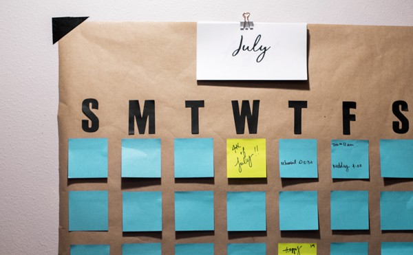 image relating to Printable Post Its known as How toward Do-it-yourself a Large Short article-it Wall Calendar (in just 5 minutes