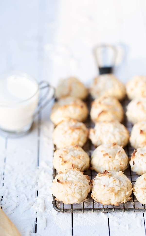 These Chewy Coconut Cookies are perfect for the holidays or anytime of year! coconut cookie recipe   coconut cookies recipe   martha stewart chewy butter cookies   coconut macaroons
