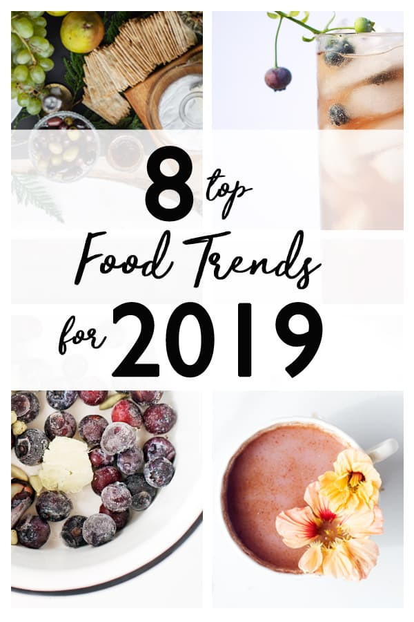 2019 Food Trends a list of beautiful, entertaining, beneficial and worldy foods to enjoy this year! food trends | trendy foods | food trends 2019