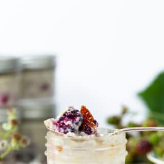 Sous Vide Creme Brulee with fresh berries is a fresh seasonal version of everyone's favorite classic, creamy dessert. sous vide creme brulee recipe | sous vide recipes | sous vide machine | sous vide desserts