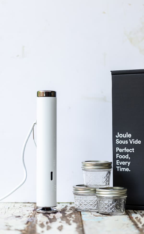 Thiss Joule Sous Vide machine giveaway  makes cooking a sous vide steak and dessert dinner a breeze! sous vide creme brulee recipe | sous vide recipes | sous vide machine | sous vide desserts