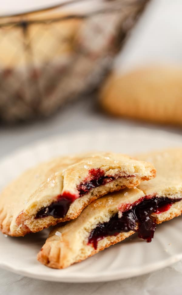 homemade cherry pie filling with lime and flaky pie crust