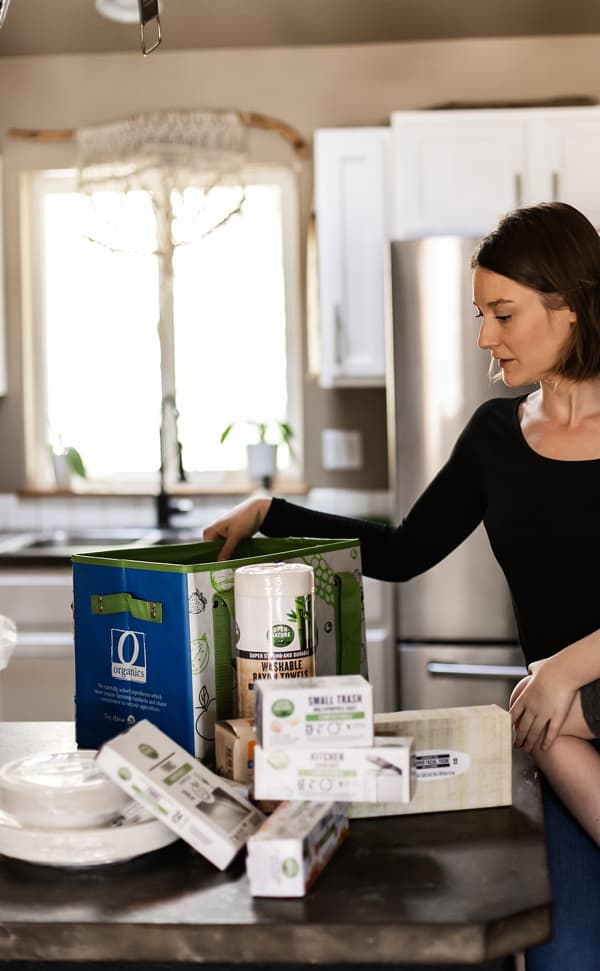Unboxing of compostable products for earth day