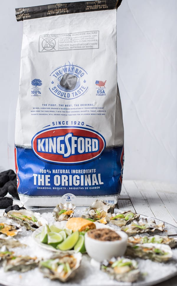 Kingsford Original Charcoal and Smoked Oysters with Spicy Miso Butter