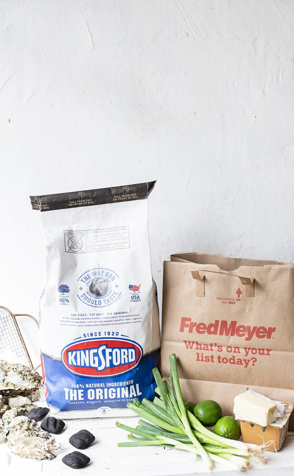 Ingredients for Smoked Oysters with asian inspired compound butter made with Kingsford Charcoal and Fred Meyer