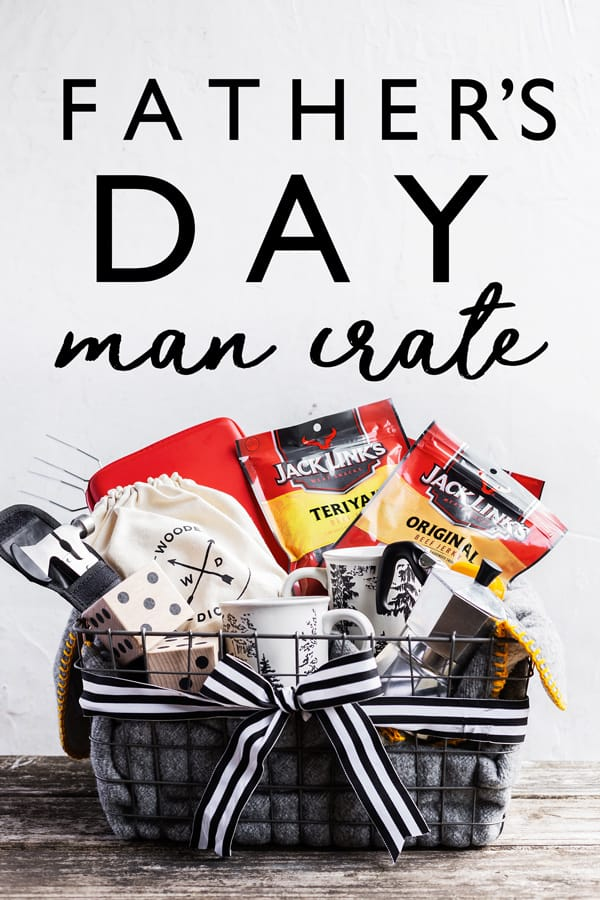 With this step by step tutorial it's easy to make a custom man crate filled with outdoor goodies just in time for Father's Day! Fathers Day gifts | diy man crates | fathers day 2019 | cheap father's day gifts basket ideas | dadventures #ad #JackLinksDad #CollectiveBias