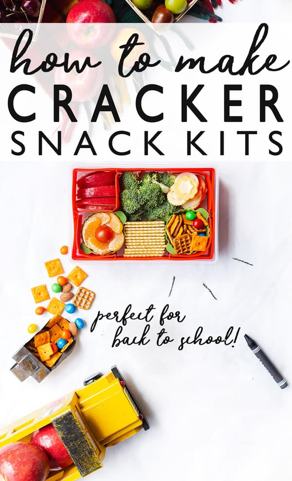 Cracker Snack-Kits filled with a variety of yummy and nutritious mix-and-match ingredients are a perfect snack or meal for even the pickiest of eaters! Healthy snacks for kids at school on the go | snack recipes | Japanese bento box |