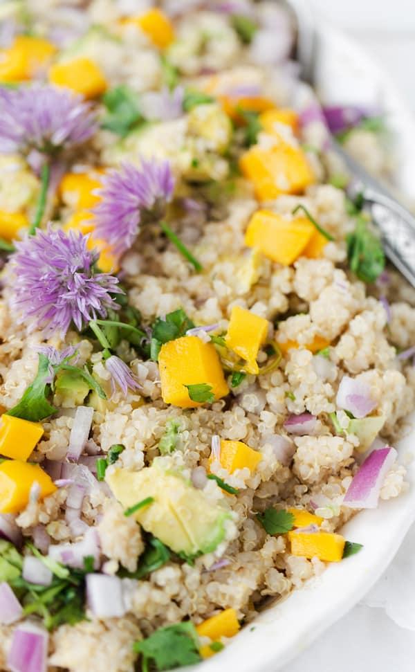 Mango Avocado Quinoa Salad   quinoa recipe   how to make quinoa salad   mango salad   quinoa salad dressing   easy vegan quinoa salad recipe