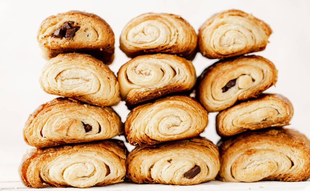Chocolate Croissants, or pain au chocolat in French, are a special treat to start making with your family as a holiday tradition over the holidays and a delicious make ahead idea for breakfast any time of year! chocolate croissant recipe   how to make chocolate croissants   christmas traditions   cooking with kids   make ahead christmas breakfast #ad