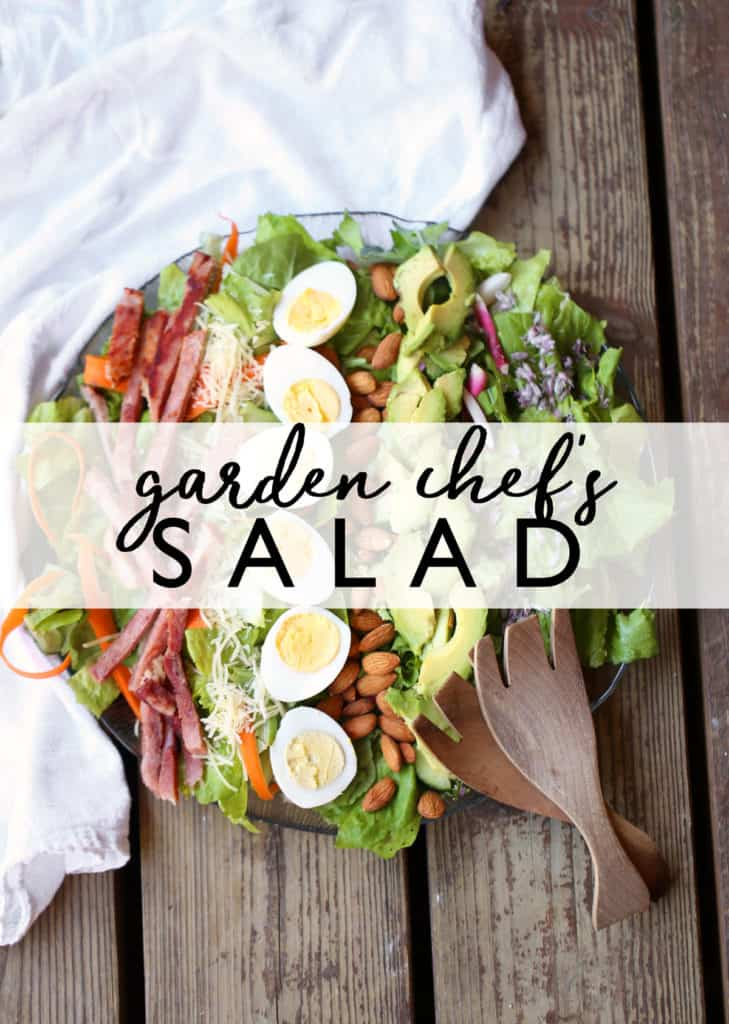 Chef's Garden Salad with Herb Cider Vinaigrette is an updated classic featuring the very best of the season's fresh produce.