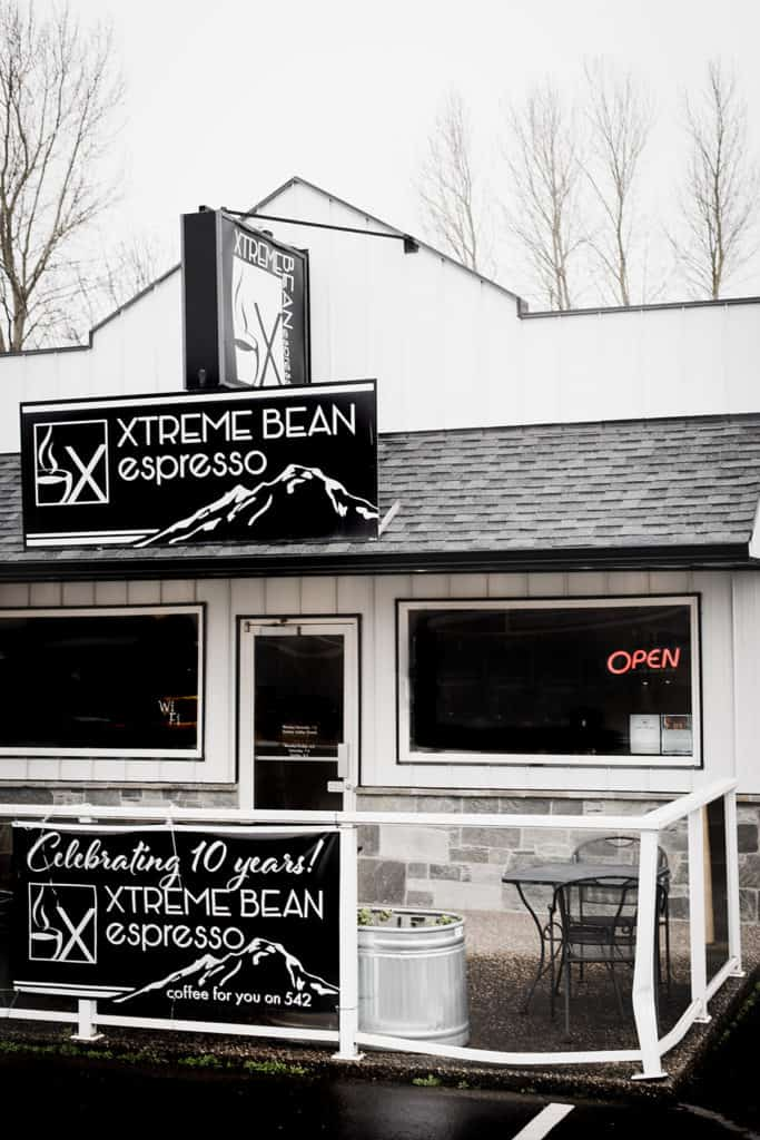Xtreme Bean Espresso cafe off Mount Baker Highway