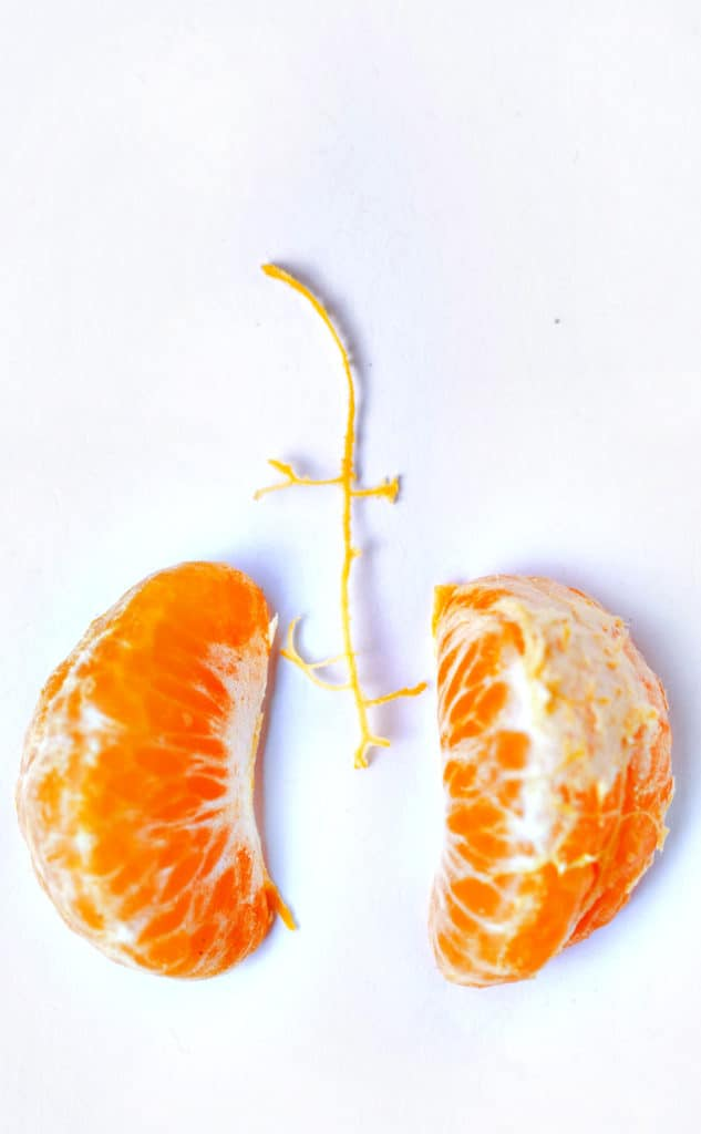 Citrus are a fruit that look like the part that they benefit and are great for lung health