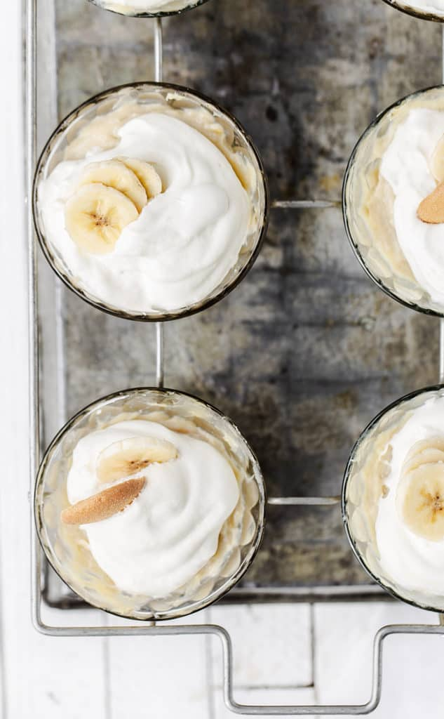 homemade banana cream pie pudding cups