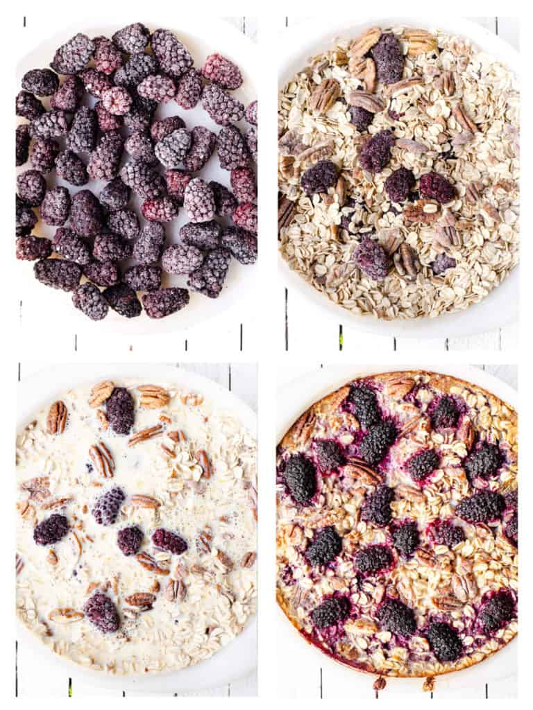 Easy 4 step baked oatmeal method